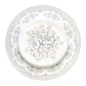 Plate Stephanie warm grey GreenGate