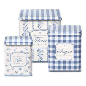 GreenGate Dåsesæt - Tin Boxes Audrey Indigo