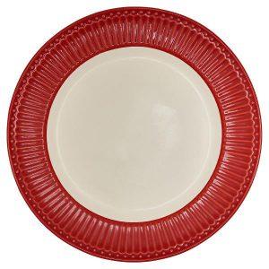 Dinner plate - Spisetallerken Alice red