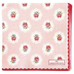 GreenGate Paper Napkin - Servietter -  Tammie pale pink small
