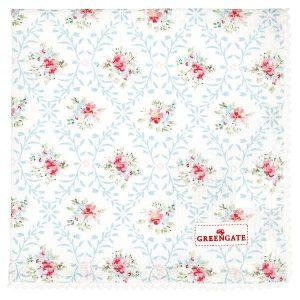 GreenGate Napkin with lace - Brødkurvsserviet - Daisy white