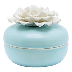 GreenGate Jewelry box - Lille smykkeskrin - w/flower pale blue