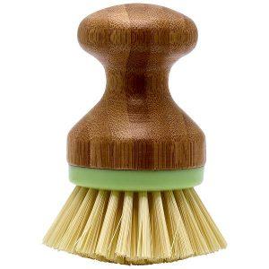 GreenGate Dishwashing brush - Opvaskebørste - Bamboo w/green rim small