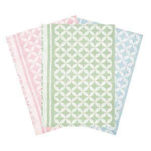 GreenGate Tea towel - Viskestykker i sæt af 3 - Mia mix set of 3pcs