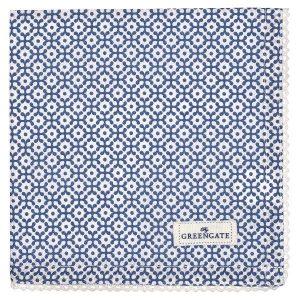 GreenGate Napkin with lace - Brødkurvsserviet - Jasmina blue