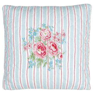 GreenGate Cushion Tess white w/embroidery