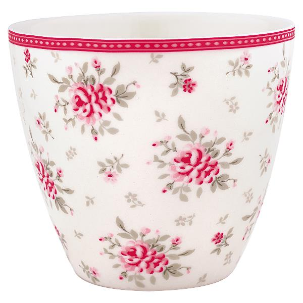 greengate latte cup flora white. Black Bedroom Furniture Sets. Home Design Ideas