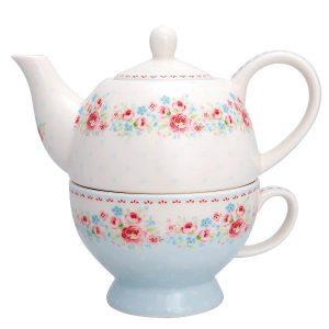 GreenGate Tea for one Tess white