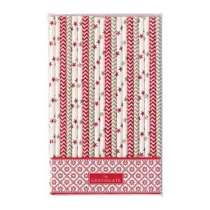 Paper straw Bianca red GreenGate