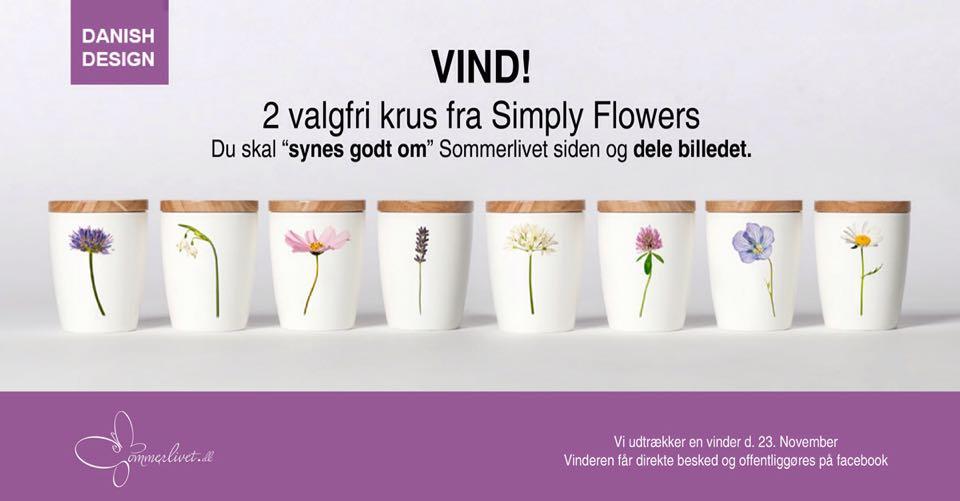 Vind 2 krus fra Simply Flowers hos www.sommerlivet.dk