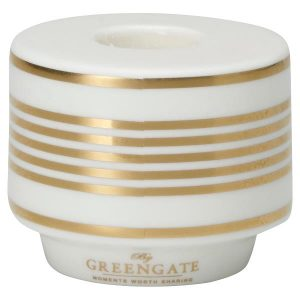 Candle holder Stripe gold H:4,5cm