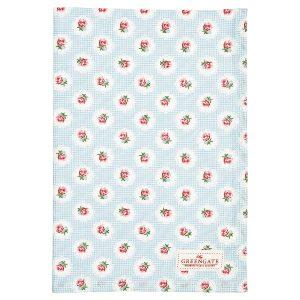 GreenGate Tea towel - viskestykke - Tammie pale blue