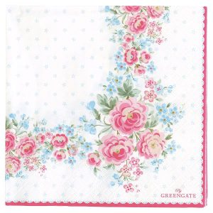 Greengate Napkin - Servietter - Tess white large