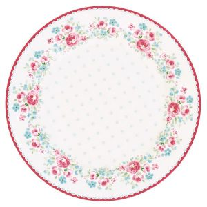 GreenGate - Plate - tallerken - Tess white