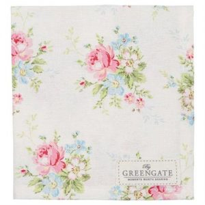 GreenGate Marie White Napkin W/Lace - Limited Edition