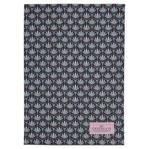 GreenGate - Viskestykke - Tea towel Victoria dark grey