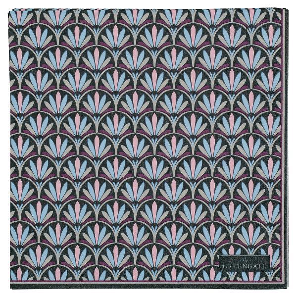 GreenGate Napkin large - Papirsserviet - Victoria dark grey