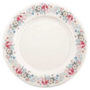 GreenGate Dinner plate - Middagstallerken - Marie pale grey