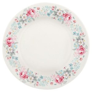 GreenGate Plate Marie pale grey