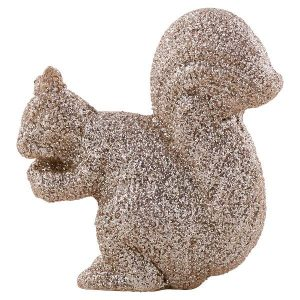 GreenGate Squirrel resin gold standing small