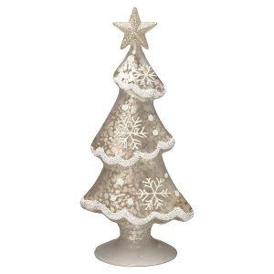 GreenGate Tree glass December white