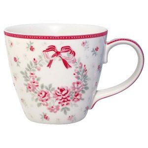 GreenGate Mug - Krus - Flora white