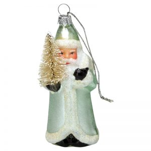 GreenGate Santa Glass Mint hanging