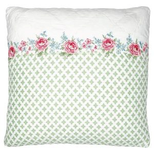 GreenGate Cushion Cover - Pudebetræk - Meryl White w/ Embroidery 40 x 40