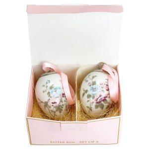 Greengate Decorative Egg Set of 2 - Maude White