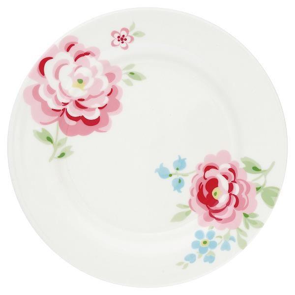 GreenGate Lunch Plate - Frokosttallerken - Meryl White