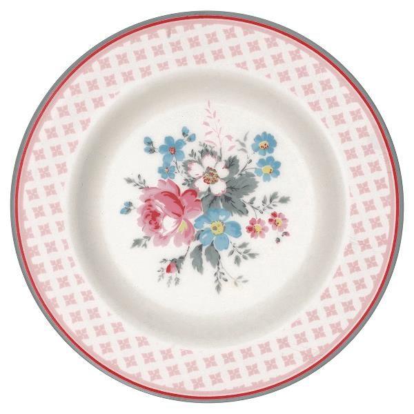 GreenGate Small Plate - Tallerken - Marie Pale Grey