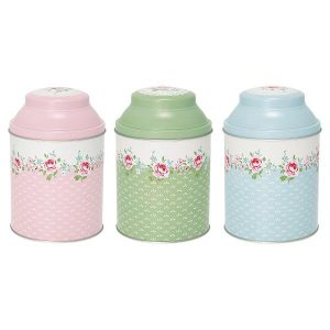 GreenGate Tea Box Set of 3 - Dåsesæt - Meryl White