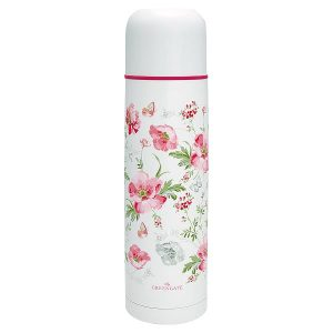 GreenGate - Termokande - Bottle Meadow white 800ml