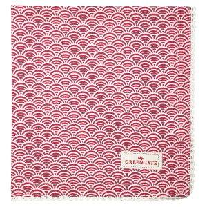 GreenGate Napkin with lace - Brødkurvsserviet - Nancy red