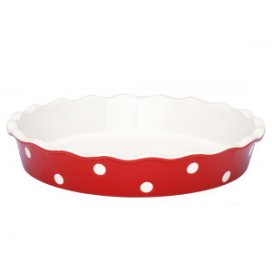 GreenGate Pie Dish - Tærtefad - Dot Red