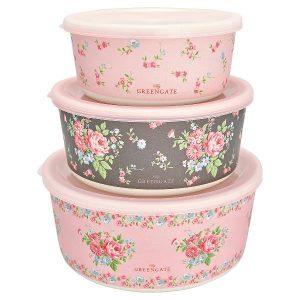 GreenGate Round Box Set - Dåsesæt - Marley Pale Pink