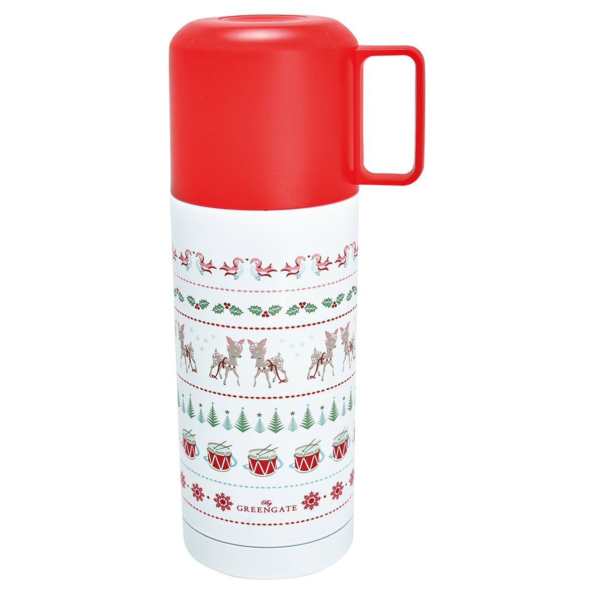 GreenGate Bottle - Termoflaske - Bambi White 350 ml.