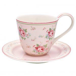 GreenGate Cup & Saucer - Kop m/underkop - Marley Pale Pink