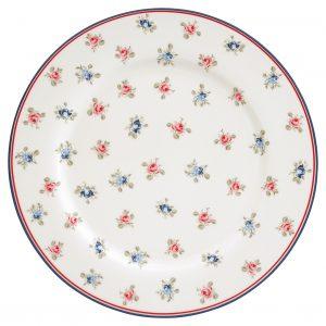 GreenGate Dinner Plate - Middagstallerken - Hailey White