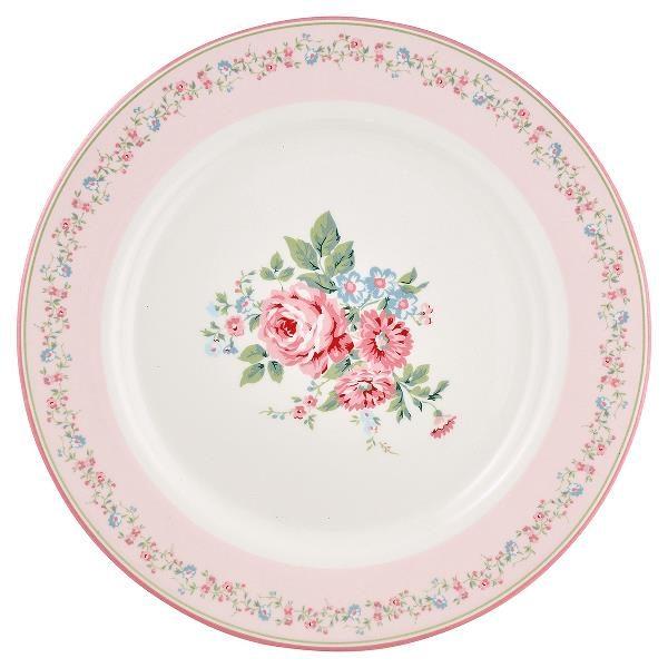 GreenGate Dinner Plate - Middagstallerken - Marley Pale pink