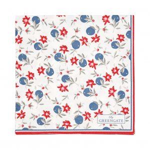 GreenGate Paper Napkins - Servietter - Helena White