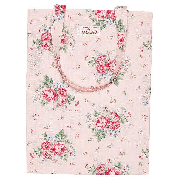 GreenGate Bag Cotton – Bomulds Indkøbstaske – Marley Pale Pink