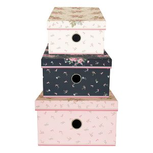 GreenGate Storage Box Set - Opbevaringskasser - Marley Pale Pink