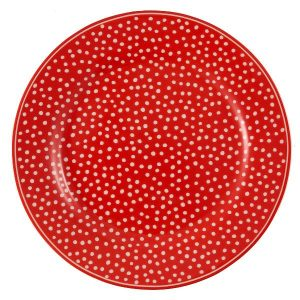 Greengate Plate Dot red