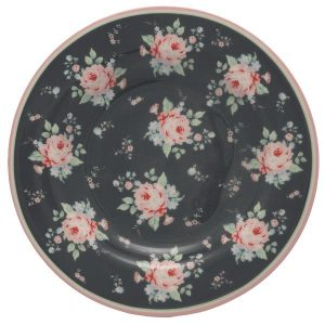 GreenGate Small plate - Tallerken - Marley dark grey