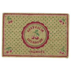 GreenGate – Dørmåtte – Doormat Cherry Berry Pale Green