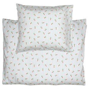 GreenGate Baby Bed Linen Set - Baby Sengesæt - Lily Petit White 70 x 100 cm.