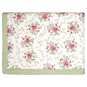 GreenGate Bed Cover / Quilt – Tæppe – Mary White 140 x 220 cm.