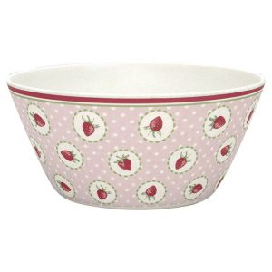 GreenGate Bowl - Skål - Strawberry Pale Pink