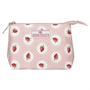 GreenGate Cosmetic bag - Strawberry Pale Pink